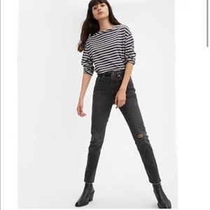Levi's 501 High Rise Black Skinny Jean Size 29